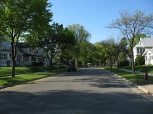 Highschool amerika typische buurt - kopie